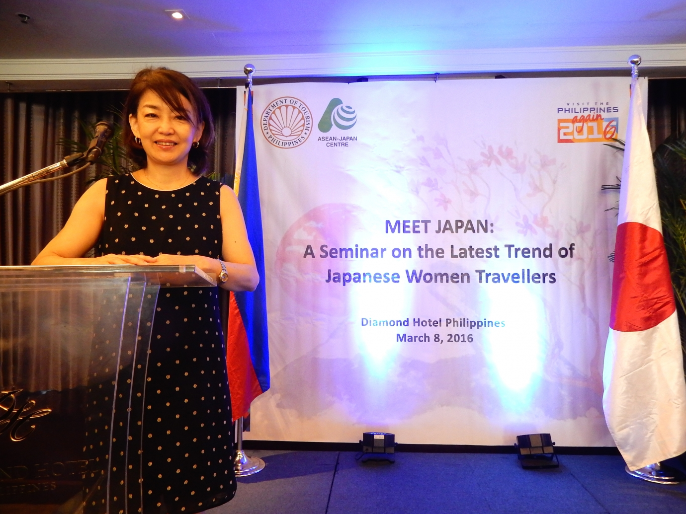 フィリピンの旅行会社対象の女子旅セミナーの講師をした時の様子