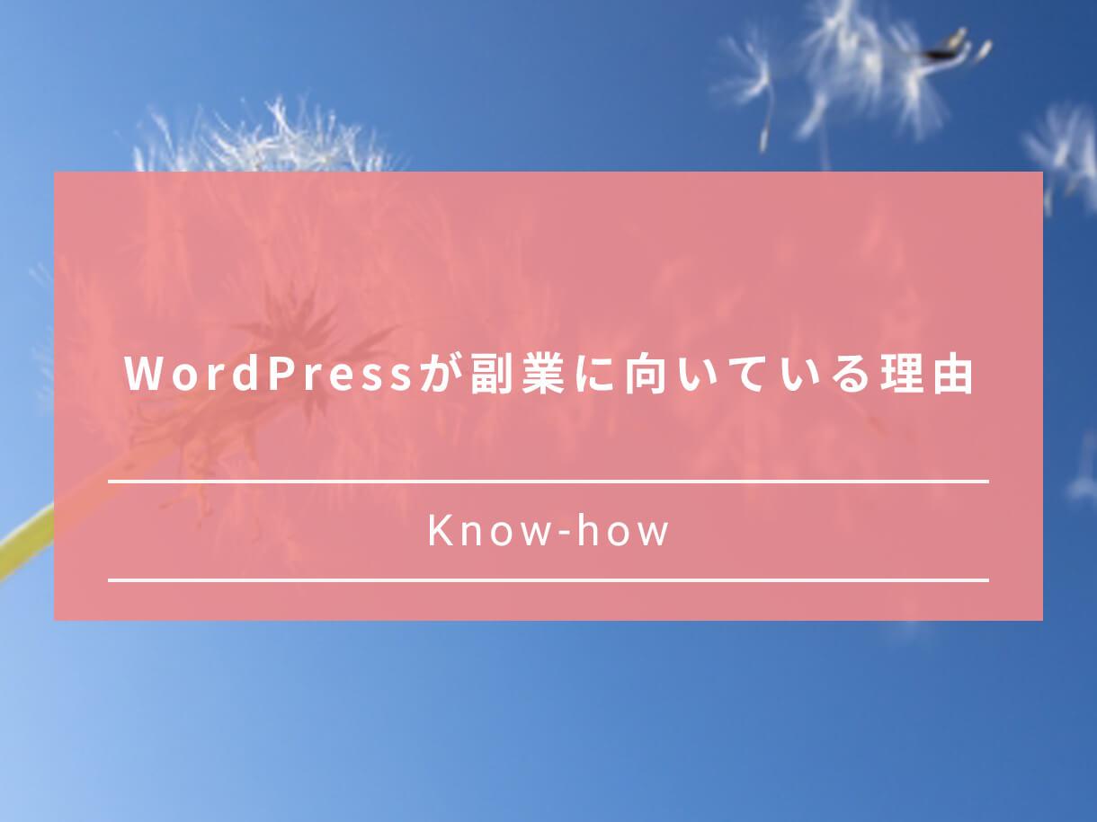 WordPressが副業に向いている理由