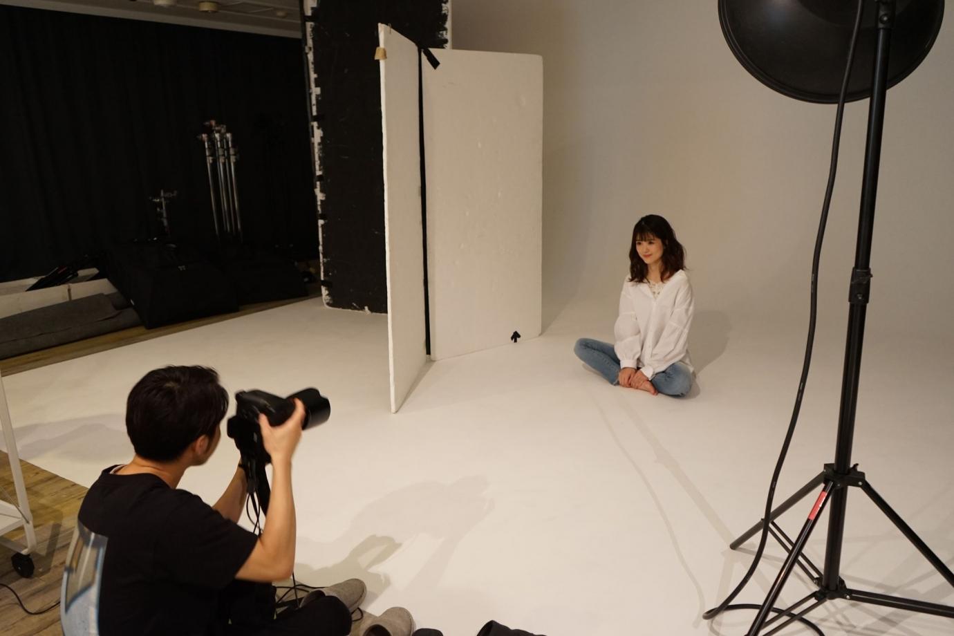 週末モデル 砂原さん 撮影風景