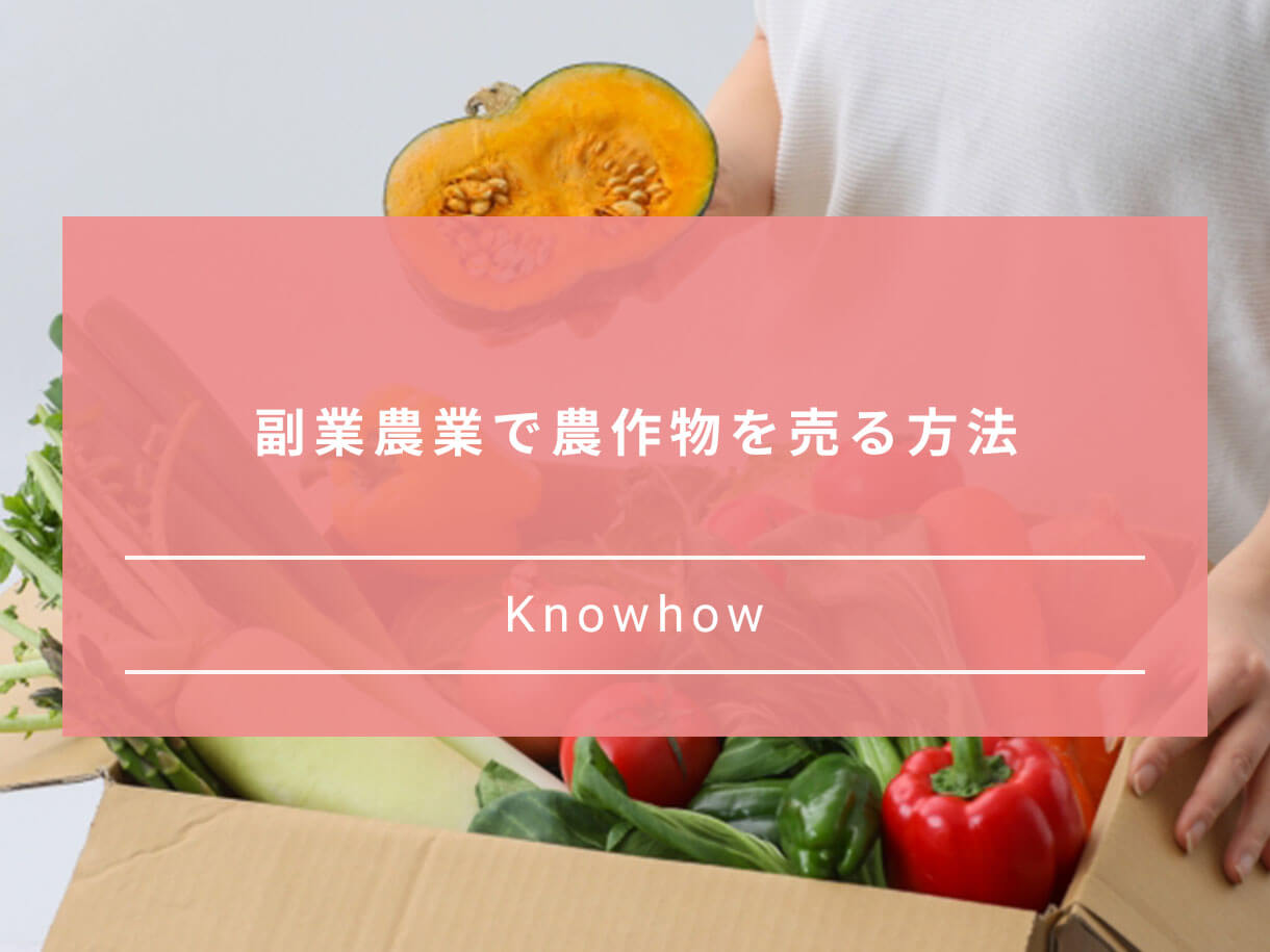 副業農業で農作物を売る方法、販売方法