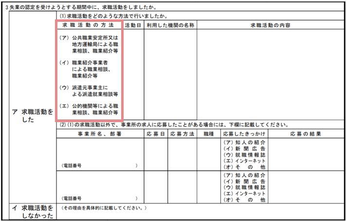 求職活動実績の書き方STEP2.求職活動の方法を選ぶ